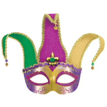 Picture of JESTER MASK - MARDI GRAS