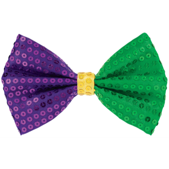 Picture of MARDI GRAS SEQUIN BOW TIE