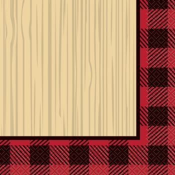 Picture of TABLEWARE - BUFFALO PLAID LUMBERJACK - LUNCHEON NAPKINS