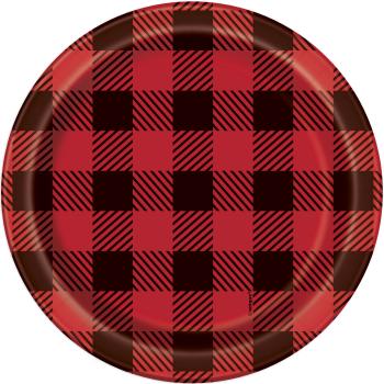 "Picture of TABLEWARE - BUFFALO PLAID LUMBERJACK - 7"" PLATES"