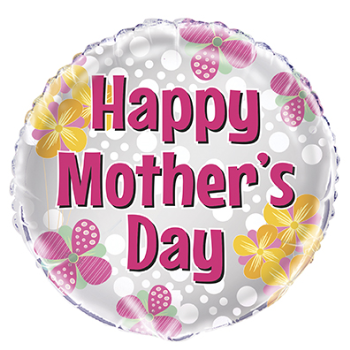"Image de MOTHER'S DAY FLOWER DOT - 18"" FOIL"