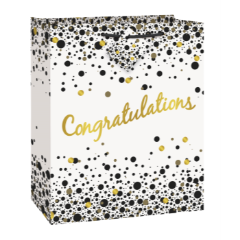 Picture of CONGRATULATIONS  LARGE GLOSSY BAG