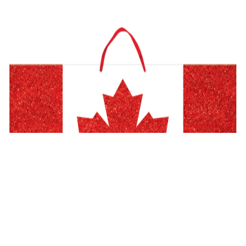 Picture of CANADA DAY GLITTER HANGING CUTOUT