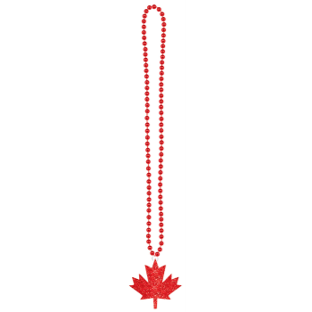 Image de CANADA DAY GLITTER MAPLE LEAF NECKLACE