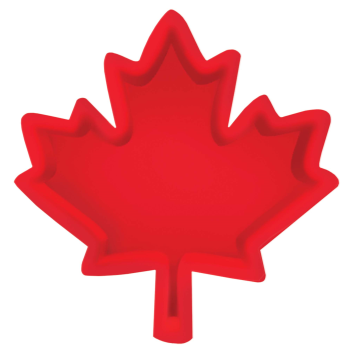 Image de CANADA DAY MAPLE LEAF SNACK TRAY