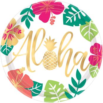 "Image de TABLEWARE - ALOHA 10 1/2""  FOIL PLATES"