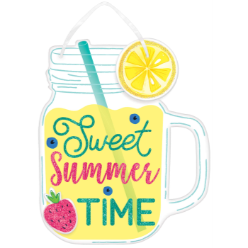 Picture of SWEET SUMMER TIME MASON JAR HANGING SIGN