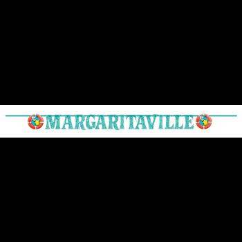 Picture of MARGARITAVILLE GLITTER LETTER BANNER 12'