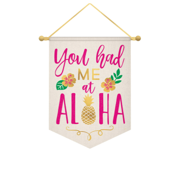 Picture of ALOHA CANVAS BANNER