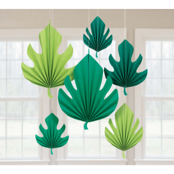 Picture of PALM LEAF SHAPED FANS 6PC