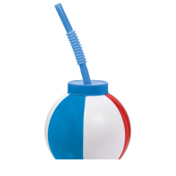 Image de TABLEWARE - 22oz BEACH BALL CUP WITH STRAW