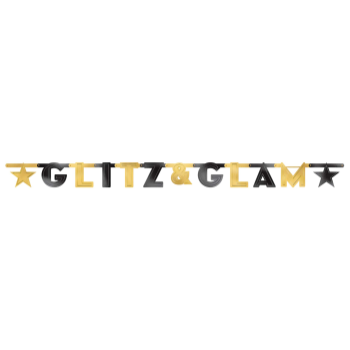 Picture of GLITZ AND GLAM LG LETTER BANNER