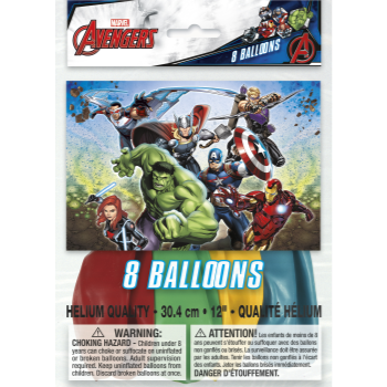 """Picture of AVENGERS - 12"""" LATEX BALLOONS"""