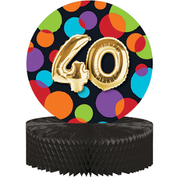 Picture of 40th - BALLOON BIRTHDAY CENTERPIECE