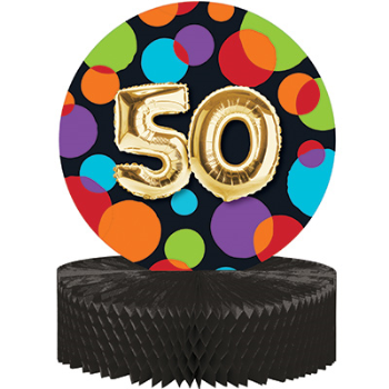 Picture of 50th - BALLOON BIRTHDAY CENTERPIECE