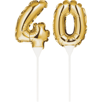 Image de 40th - BALLOON CAKE TOPPER GOLD