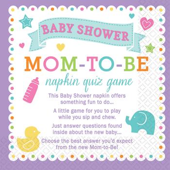 Image de GAME - BABY SHOWER TRIVIA NAPKINS