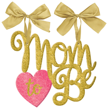 Picture of MOM TO BE GLITTER HANGING CHAIR SIGN