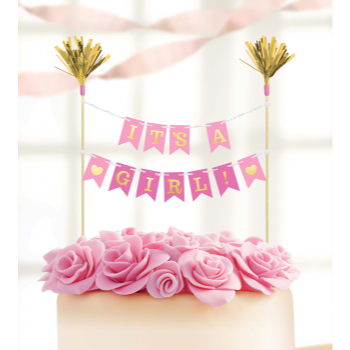 Image de IT'S A GIRL CAKE PICK