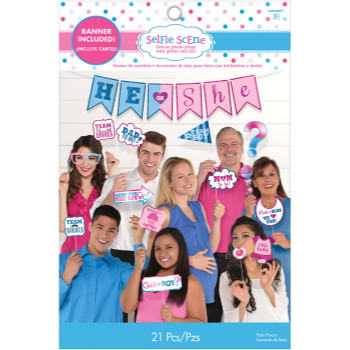 Image de GENDER REVEAL - HE OR SHE DELUXE PHOTO PROPS