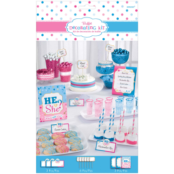 Picture of GENDER REVEAL - HE OR SHE BUFFET DECO KIT