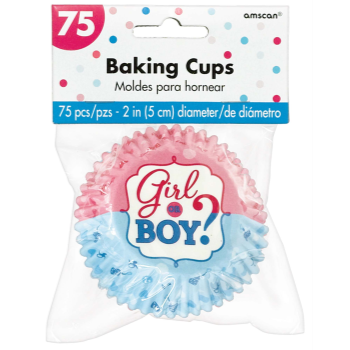 Picture of GENDER REVEAL - GIRL OR BOY BAKING CUPS