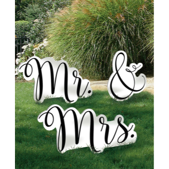 Picture of GIANT MR & MRS PHOTO PROPS