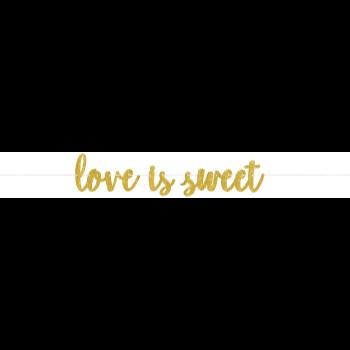 Image de LOVE IS SWEET GOLD GLITTER BANNER