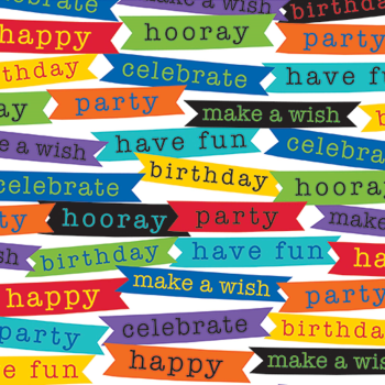 Image de 5' GIFT WRAP - BIRTHDAY MESSAGES