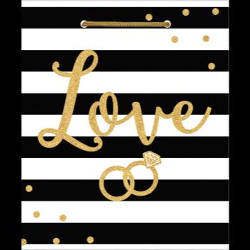 Image de MEDIUM GIFT BAG - LOVE BK/WHITE WEDDING