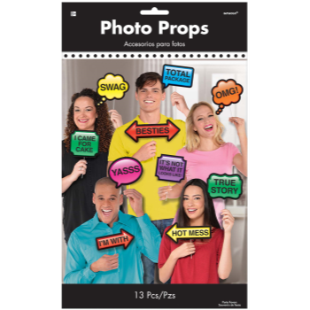 Picture of DECOR - PHOTO BOOTH PROPS - TRENDY PHRASES