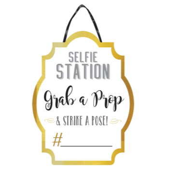 Picture of DECOR - PHOTO BOOTH PROPS - SELFIE STATION SIGN