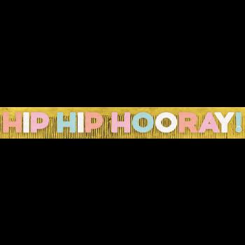 Picture of DECOR - HIP HIP HOORAY FRINGE LETTER BANNER