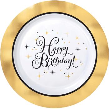 "Picture of TABLEWARE - PREMIUM GOLD BIRTHDAY - 7"" ROUND PLATES"