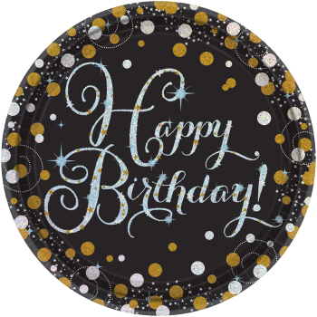 """Picture of TABLEWARE - SPARKLING CELEBRATION - 9"""" ROUND PRISMATIC PLATES"""