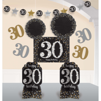 Picture of 30th SPARKLING CELEBRATION DECORATION KIT