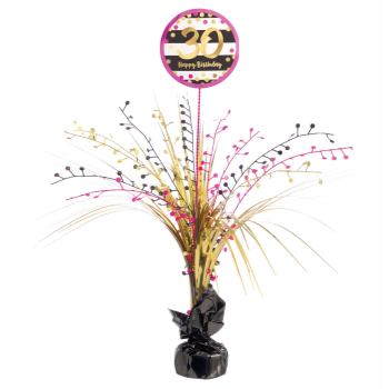 Picture of 30th - PINK AND GOLD MILESTONE SPRAY CENTERPIECE