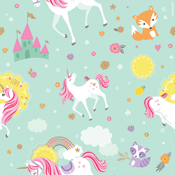 Image de 5' GIFT WRAP - MAGICAL UNICORN