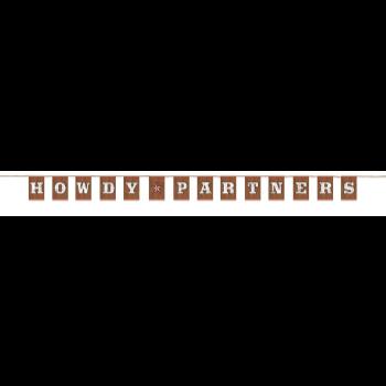 Image de DECOR - WESTERN LETTER BANNER - HOWDY PARTNER