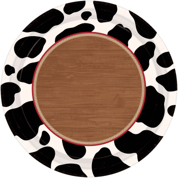 "Image de TABLEWARE - YEEHAW 7"" ROUND PLATES"