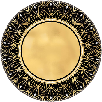 """Picture of GLITZ & GLAM 7"""" MET RDN PLATES"""