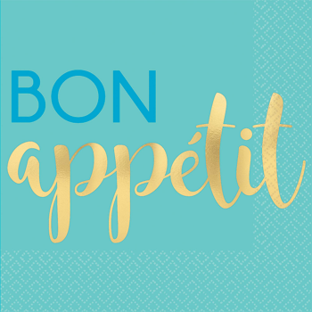 Picture of B BON APETIT - FOIL  BEVERAGE NAPKIN
