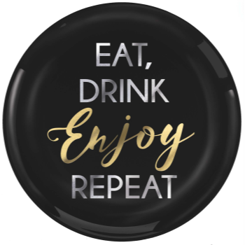 "Picture of B EAT, DRINK, ENJOY REPEAT 7"" PLASTIC PLATES"
