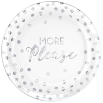 "Picture of B MORE PLEASE - 7"" PLASTIC PLATES 20CT"