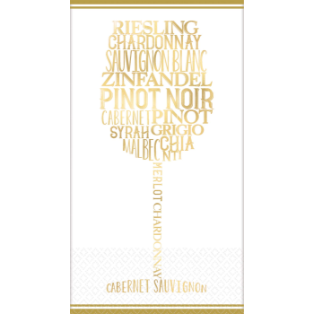 Picture of B WINE LOVER GUEST TOWEL - FOIL