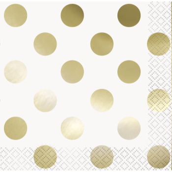 Picture of GOLD FOIL DOTS BEVERAGE NAPKIN