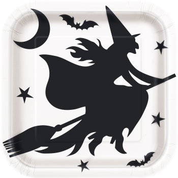 "Picture of BLACK BATS  HALLOWEEN - 9"" SQUARE PLATE"