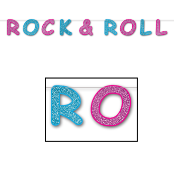Picture of 50'S - GLITTERED ROCK AND ROLL STREAMER