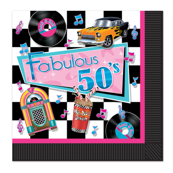 Picture of 50'S - FABULOUS 50'S LUNCHEON NAPKINS