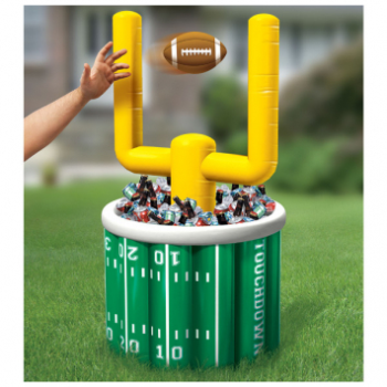 """Picture of FOOTBALL - INFLATABLE FOOTBALL COOLER - 53"""" FIELD GOAL"""